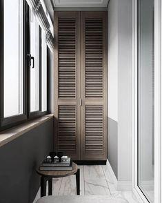 House Balcony Design, Interior Balcony, Apartment Balcony Decorating, Apartment Design, Bathroom Interior, House Design, Art Deco Bedroom, Bedroom Closet Design, Home Room Design