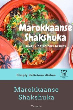 Lekkere shakshuka met tomaat, ei en paprika! Moroccan Dishes, Fancy Drinks, Cooking Recipes, Healthy Recipes, Baked Eggs, Tasty Dishes, Healthy Lifestyle, Easy Meals, Mbti