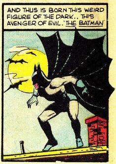 jthenr-comics-vault: DETECTIVE COMICS #33 (Nov.1939)Art by Bob KaneWords by Bill Finger