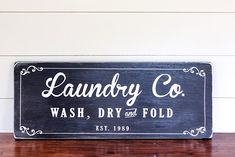 Farmhouse Laundry Room Sign Tutorial and SVG cut file Laundry Room Signs, Laundry Room Organization, Laundry Rooms, Mud Rooms, Laundry Art, Small Laundry, Jar Fillers, Farmhouse Laundry Room, Glass Storage Jars