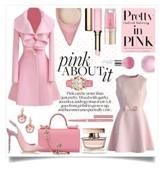 """""""Pink About It!"""" by shaheenk ❤ liked on Polyvore featuring Sophia Webster, Clarins, Dolce&Gabbana, MAC Cosmetics, Chicwish, Margaret Dabbs, Guerlain, Stila, Chopard and chic"""
