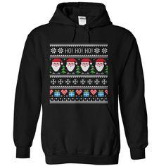 Ho Ho Ho Ugly Christmas Sweater Hoodies, shirts T-Shirts, Hoodies. SHOPPING NOW ==► https://www.sunfrog.com/Holidays/Ho-Ho-Ho-Merry-Christmas-Black-Hoodie.html?id=41382