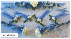 _*Traumhafte Tischdekoration in der  creme - blau 7 teilig*_     Ideal für Ihre Kommunion, Konfirmation, Taufe, Hochzeit, Geburtstag, Verlobung.......