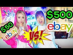 $50 vs $500 Ebay Mystery Box Challenge! - YouTube