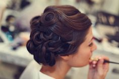 Pinned curls updo. So elegant! Photography by lukasvandyke.com/, Month of Coordination by orangeblossomspecialevents.com