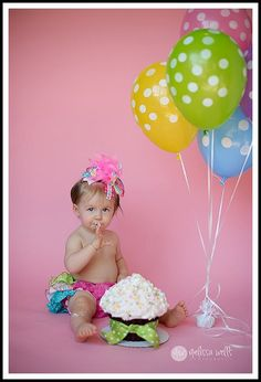 1st birthday picture idea  Love the over the top headband!....