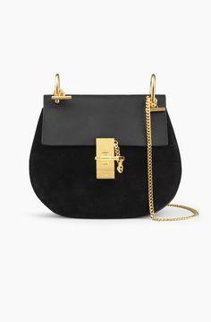 Handbags & Wallets - Drew - veau velours et veau lisse Black | Chloé - How should we combine handbags and wallets?