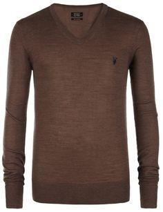 Code Merino V-neck Jumper, Men, Ramskull Jumper, Men Sweater, Latest Mens Fashion, Signature Collection, Polo Shirt, T Shirt, Knitwear, Guy Style, V Neck