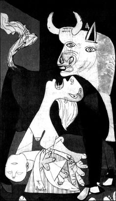 "whitepunk: "" Pablo Picasso, Guernica (Detail) """