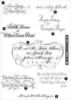 our favorite calligraphers   VIA #WEDDINGPINS.NET