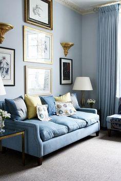 Soft blue-grey scheme - Living Room Design Ideas & Pictures (houseandgarden.co.uk)