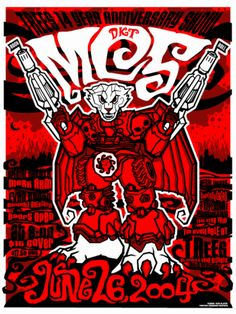 Concert poster from Tree's in Dallas.  6/26/04.   Art by Todd Slater.   18x24 3 color silkscreen edition of 100.  Signed