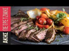Μοσχαρίσιο steak με λαχανικά | Άκης Πετρετζίκης
