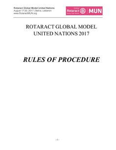 Rules of procedure rotaractmun 2017