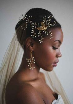 bridal hairstyles for short afro hair 12
