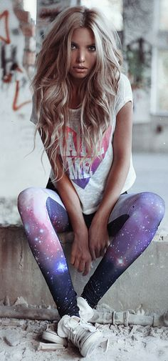 love the hair (and leggings)