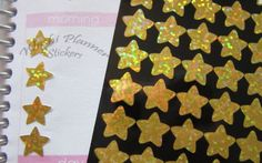 Gold Star Hologram Stickers
