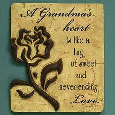 "Open Expressions ""A Grandma's Heart"" Memorial Plaque | Christian Accents | SonGear"