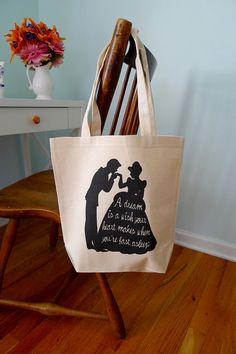 Cinderella tote bag, disneys cinderella, cinderella, tote bag, a dream is a wish your heart makes