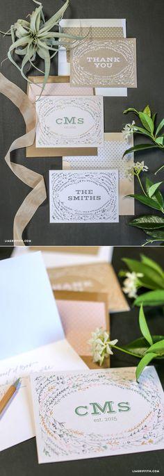 #wedding #thankyoucard #weddingstationery #papergoods www.LiaGriffith.com