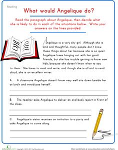 Worksheets: Creative Writing: Character Development
