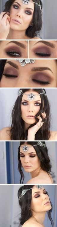 Linda Hallbergs makeup look inspired by the Lord of the Rings Elves :)