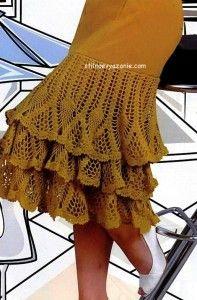 Crochet border for skirts