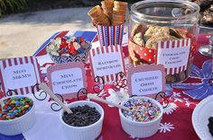 Ice Cream Sandwich bar for 4th of July Party  yourhomebasedmom.com