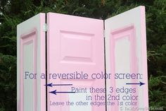 DIY: How To Make a Decorative Folding Screen / Room Divider