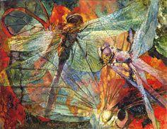 Художница Марина Подгаевская: картина Две стрекозы - холст,масло