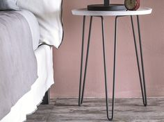 Round bedside table LC 46 by Letti