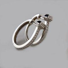 Horseshoe Nail Hoop Earrings in Sterling Silver