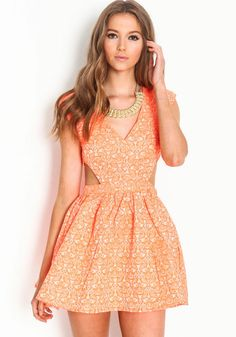 NEON CUT OUT DRESS