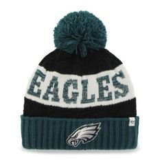 Philadelphia Eagles  47 Brand Women s Swanson Cuff w Pom Knit Beanie –  Green. 4540683b6