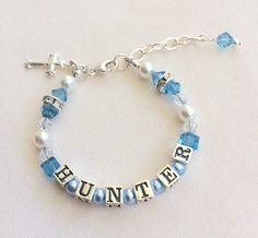 A personal favorite from my Etsy shop https://www.etsy.com/listing/252913964/baptism-bracelet-christening-bracelet