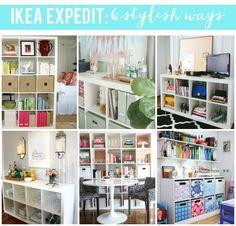Ikea Expedit Bookcase: 6 Stylish Ways // affordable & stylish interior design!