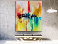Large Abstract Painting Modern abstract painting original image 3 Dinning Room Wall Art, Bathroom Wall Art, Large Wall Canvas, Extra Large Wall Art, Office Wall Art, Office Decor, Colorful Artwork, Abstract Canvas Art, Modern Wall Decor