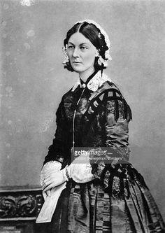 English nursing pioneer, healthcare reformer and Crimean War heroine, Florence Nightingale (1820 - 1910).