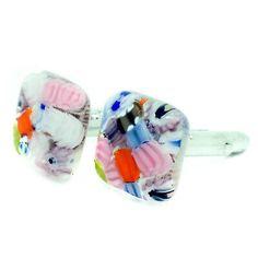 Murano Cufflinks ▷ 5.5£ | Dealsan Sterling Silver Cufflinks, Murano Glass