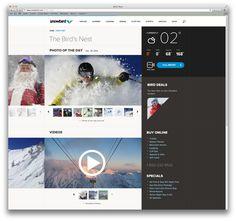 Snowbird.com on #Behance #Webdesign
