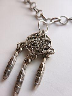 Dreamcatcher Necklace: https://www.etsy.com/listing/108355653/dreamcatcher-necklace