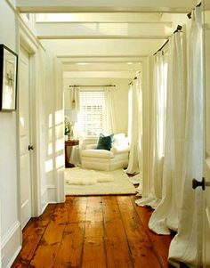 in love with the floors and curtains.