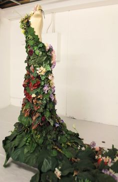Flower Gown Installation at San Francisco Arts Institute ~ October 2011