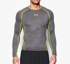 Men s UA HeatGear® Armour Printed Long Sleeve Compression Shirt   Under  Armour DE d9f0e52b53