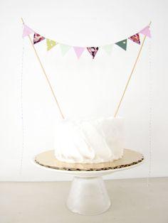 Wedding Cake Topper  Fabric Cake Bunting  by AthenaandEugenia