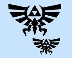 Hylian Crest  machine embroidery design - Legend of Zelda - 2 sizes