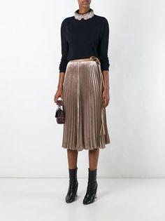 Valentino плиссированная юбка