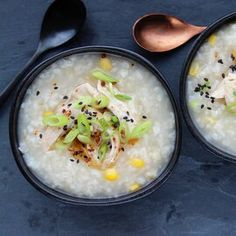 Instant Pot® Chicken Congee Rice Side Dishes, Food Dishes, Main Dishes, Porridge Recipes, Rice Porridge, Korean Porridge, Rice Recipes For Dinner, Side Dish Recipes, Best Mexican Recipes