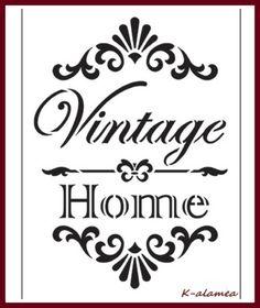 """Schablonen - Schablone """"Vintage Home"""" - ein Designerstück von K-alamea bei DaWanda"""