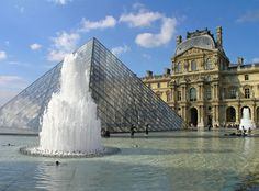 Louvre pyramid and fountain Louvre Pyramid, Golf Tour, What A Wonderful World, Paris Travel, Wonders Of The World, Places Ive Been, Fountain, To Go, France